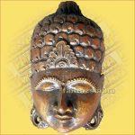 Buddha Arc Maszk bordó 20cm
