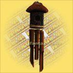 Szélkolomp Bambuszból Kókuszházzal