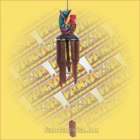Szélkolomp Bambuszból Állatfigurás 12x36cm