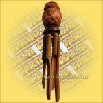 Szélkolomp Bambuszból Kókuszmajommal