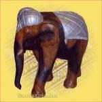 Elefánt Hátán Faragott