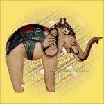 Elefánt Színes Antokolt 22cm