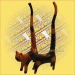 Macska Gyűrűtartó-Hosszú Farkú Trópusi Fából A