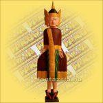 Buddha Szobor Álló,Festett A