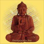 Buddha Szobor Ülő-Sono Fából 40cm