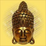 Buddha Arc Maszk arany 40cm