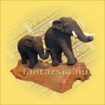 Elefánt Figura Fagyagból  Dupla