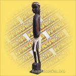 Maori-Asmat szobor 80 cm,fiú
