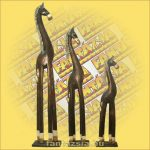 Ló Figura Trópusi Fából 60cm
