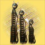 Macska Figura Trópusi Fából 1m M
