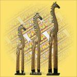Zebra Figura Trópusi Fa, Álló 120cm