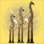 Zebra Figura Trópusi Fa, Álló 180cm
