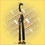Zsiráf Trópusi Fából 100cm B