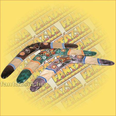 bumeráng Aboriginal Festéssel (különféle mintákkal)