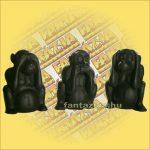 Halcsont Figura - Három majom