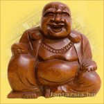 Buddha Szerencsehozó 10cm -Trópusi fa