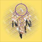 Álomcsapda (álomfogó) lila 22cm