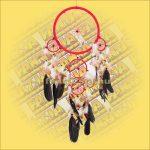 Álomcsapda (álomfogó) piros 22cm