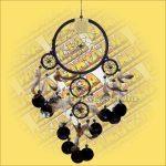 Álomfogó (Álomőrző,Álomcsapda) rákszirmos, fekete 17cm