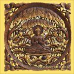 Buddha a fügefa alatt Teakfa Kép