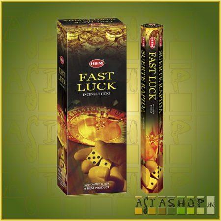 HEM Fast Luck/HEM Gyors Szerencse indiai füstölő