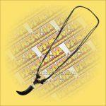 Nyaklánc Állítható - Halcsont fekete agyar medállal