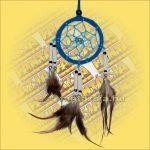 Álomfogó (Álomőrző,Álomcsapda) velúr világoskék 6cm