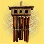 Szélkolomp Bambuszból Kétsoros Madárházzal