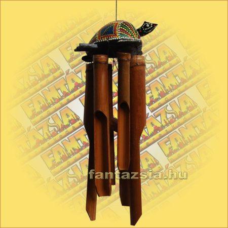 Szélkolomp Bambuszból Teknőssel