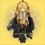 Álomfogó (Álomőrző,Álomcsapda) indián díszes, bézs 6cm
