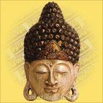 Buddha Arc Maszk fehér 50cm