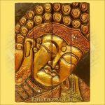 Buddha Panelkép négyrészes,arany színű