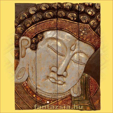 Buddha Panelkép négyrészes,kék színű