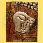 Buddha Panelkép négyrészes,ezüst színű