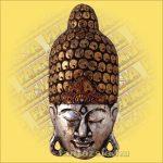 Buddha Arc Maszk ezüst 60cm