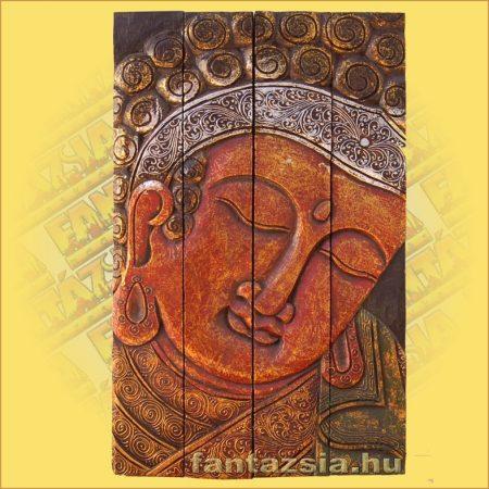 Buddha Falikép Bordó Színű