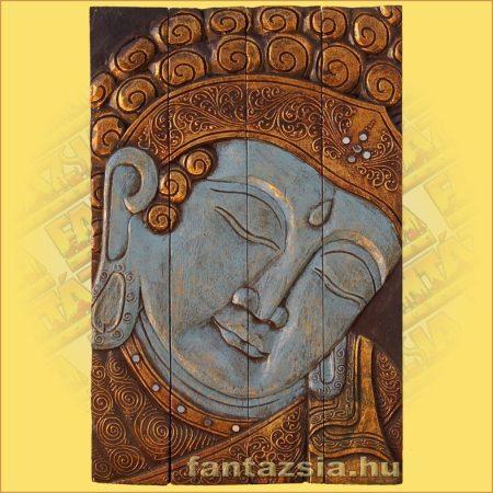 Buddha Falikép Kék Színű
