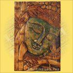 Buddha Falikép Zöld Színű