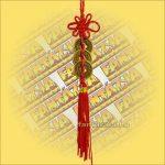 Feng Shui Szerencsehozó Pénzfüzér 3db-os sor 15×2cm