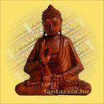 Buddha Szobor Sono Fából 20cm
