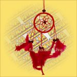 Álomfogó (Álomőrző,Álomcsapda) piros 6cm
