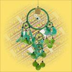 Álomfogó (Álomőrző,Álomcsapda) rákszirmos, zöld 17cm