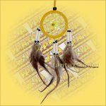 Álomfogó (Álomőrző,Álomcsapda) velúr sárga 6cm