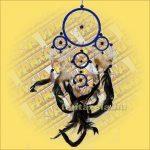 Álomfogó (Álomőrző,Álomcsapda) sötétkék 12cm