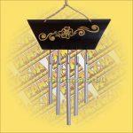 Csengősor Bambusz-Virágos mintával és Öt csővel