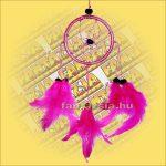 Álomfogó (Álomőrző,Álomcsapda) rózsaszín 6cm