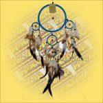Álomfogó (Álomőrző,Álomcsapda) világoskék 17cm