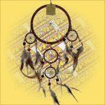 Álomfogó (Álomőrző,Álomcsapda) tükrös barna 17cm