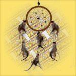 Álomfogó (Álomőrző,Álomcsapda) barna 11cm
