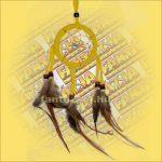 Álomfogó (Álomőrző,Álomcsapda) sárga 7cm